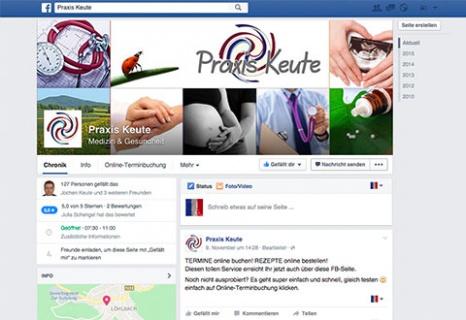 Termine und Rezepte über die Praxis Keute Facebookseite